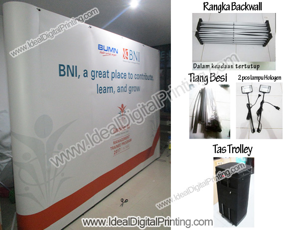 Backdrop pameran dan promotion table bongkar pasang