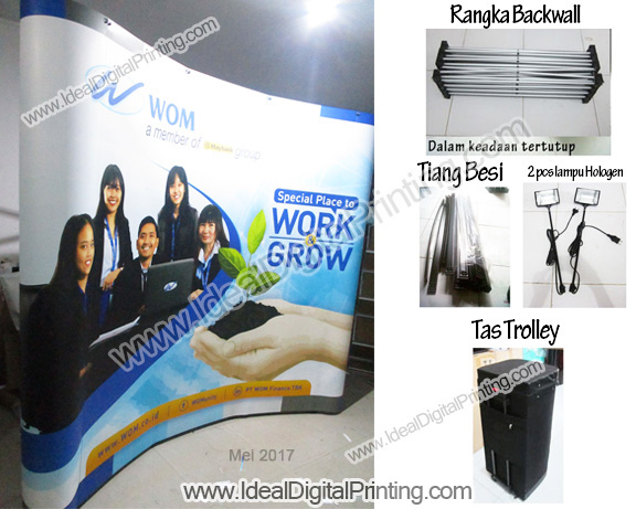 Backdrop Pameran JOB EXPO PT. WOM