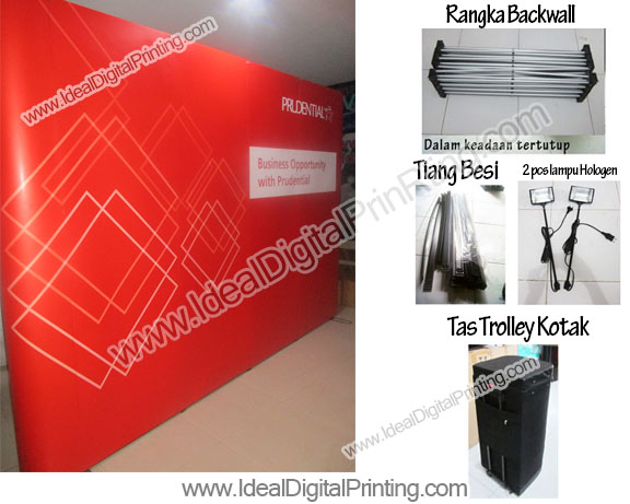 Backdrop / Backwall / Meja Pameran Prudential