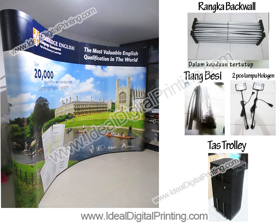 Backdrop Pameran Portable Cambridge English School