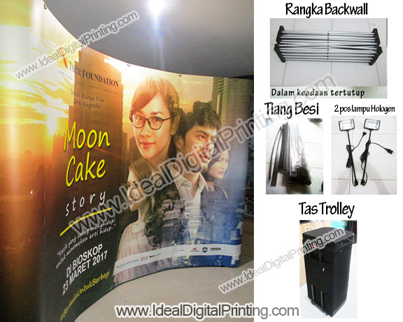 Backwall portable Film Moon Cake Story