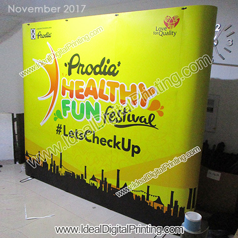 Magnetic Pop up Backdrop / Backwall dan meja Pameran