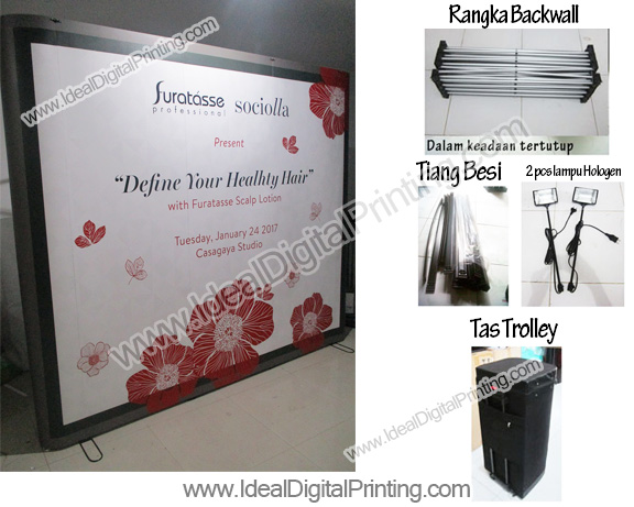 Backdrop backwall pameran sociolla