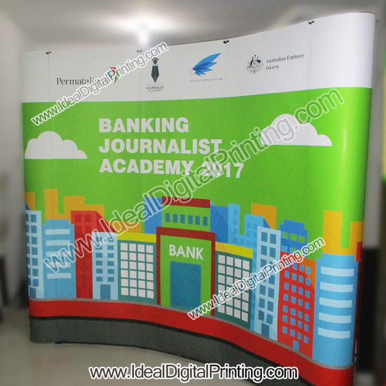Backdrop Pameran Portable Bank Permata