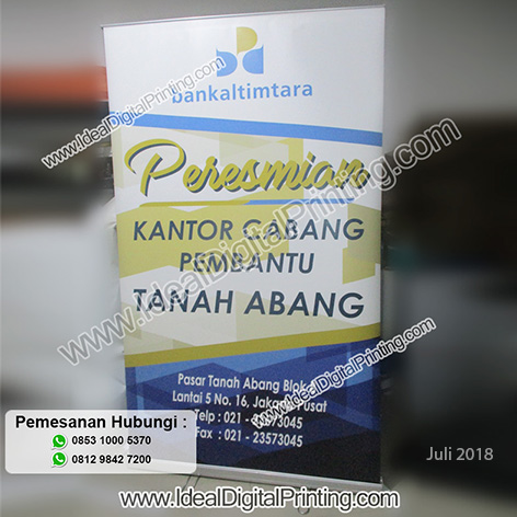 Backwall dan Roll Banner Bankaltimtara