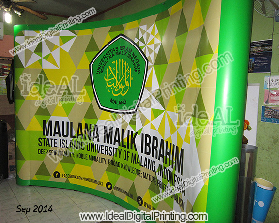 Backdrop Portable dan Meja pop up counter Malang