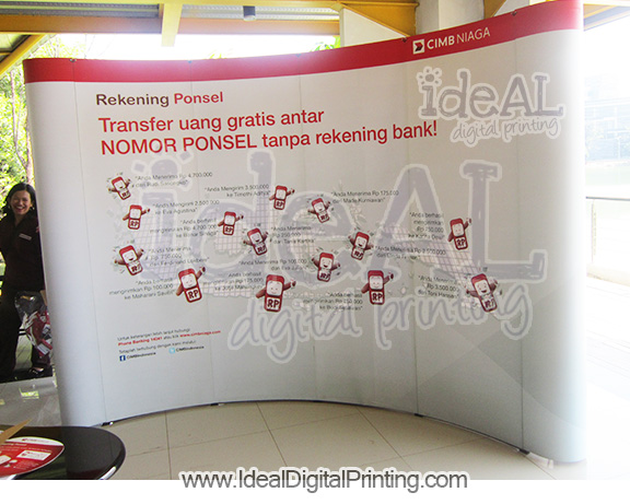 Backwall dan Meja pop up counter CIMB NIAGA