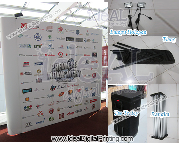 Backdrop dan Meja Pop up counter KIA