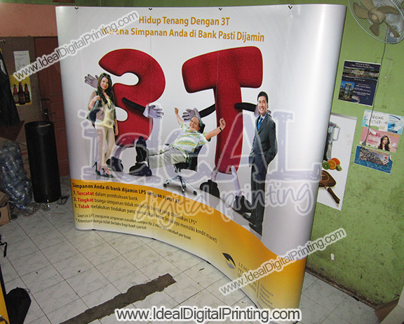 Backdrop dan meja Pop up counter Lembaga Penjamin Simpanan