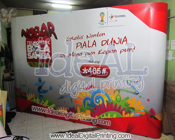 Backdrop Nonton Bareng World CUP 2014