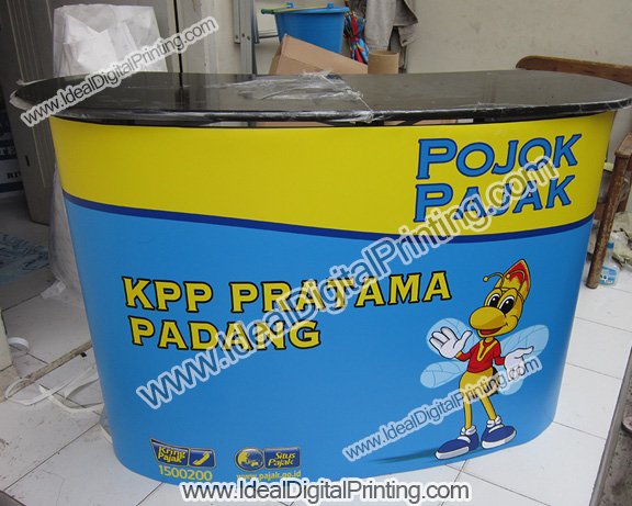 Backwall dan pop up counter POJOK PAJAK