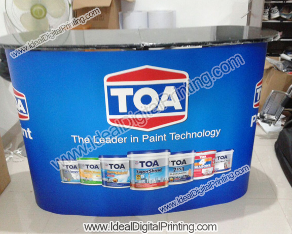 Meja Pop up counter TOA PAINT