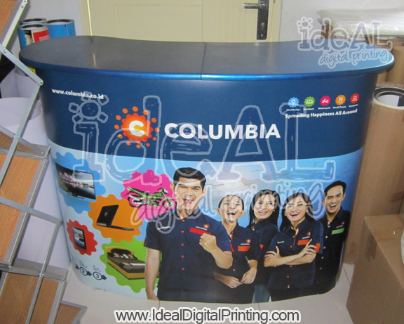Meja Luxury alas biru COLUMBIA