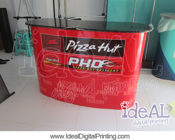 Meja Pop up counter Pizza Hut